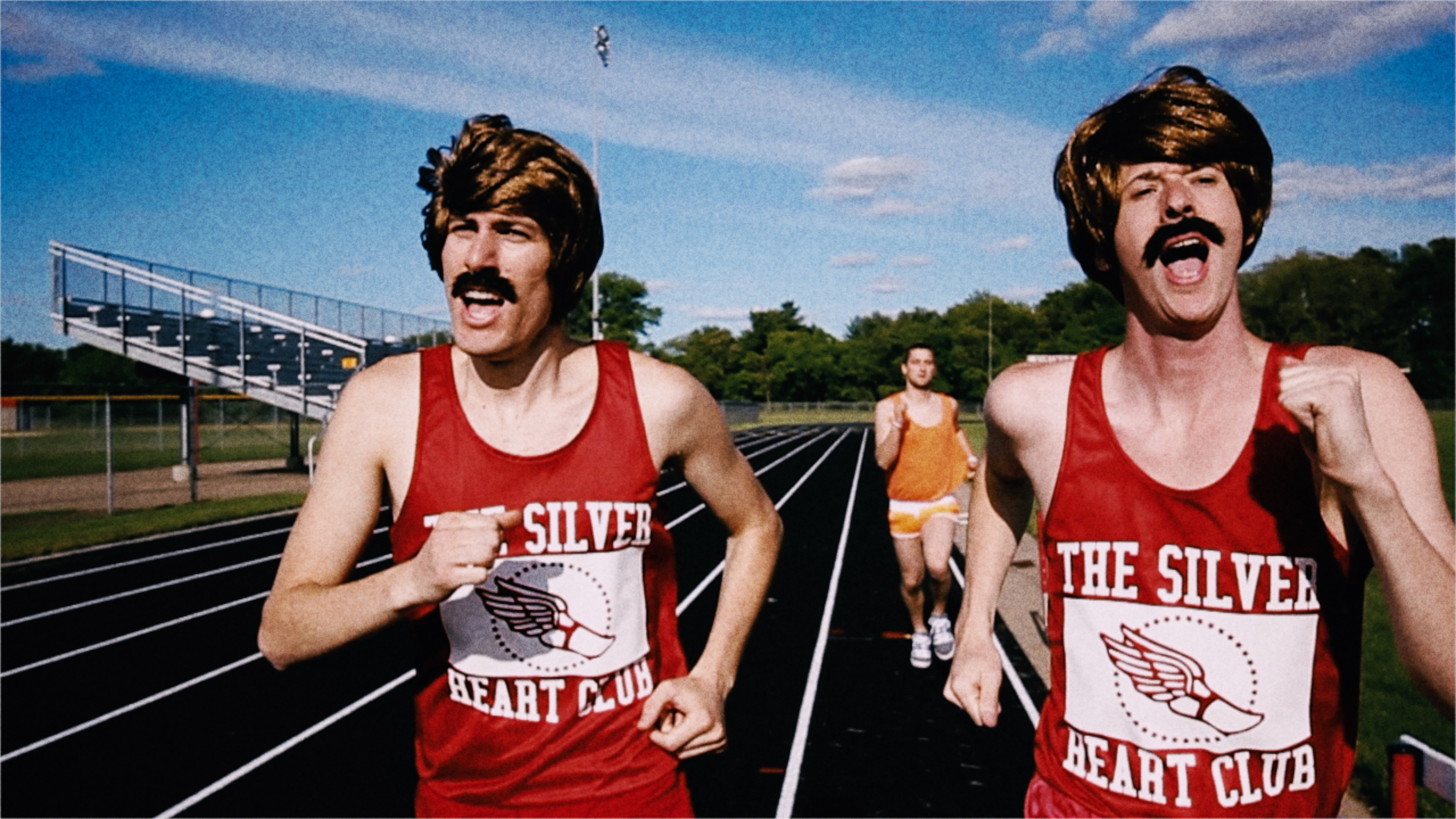 Track runners with mustaches